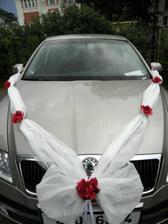 šerpa pro nevěstu, objednána v oranžové