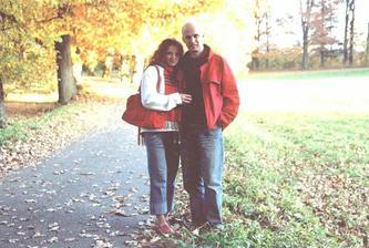 ...a samozřejmě, zde jsme my dva... v barvách podzimu:)