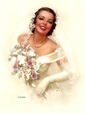 Perfect pin-up bride