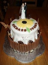 torta ktory sme urobili s babkou noc pred svadbou