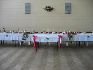 vyzdoba hlavneho stola