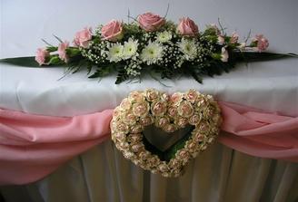 prekrásná dekorace svatební hostiny