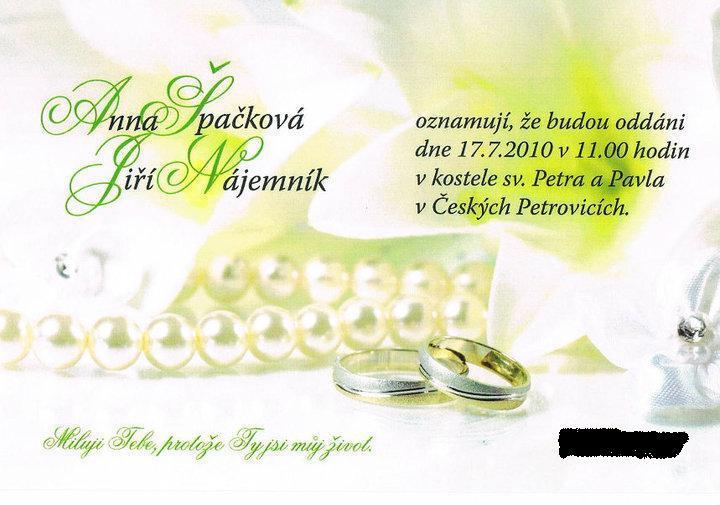Anna {{_AND_}}Jiří Nájemníkovi - naše oznámení