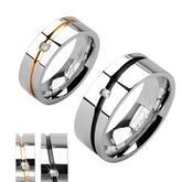 Snubní prsteny z chirurgické oceli PNS-0019