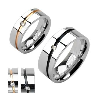 snubniprsteny - Snubní prsteny z chirurgické oceli PNS-0019
