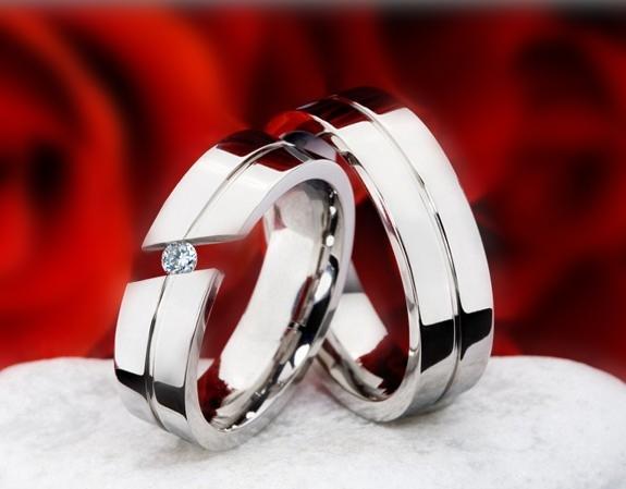 snubniprsteny - Snubní prsteny z Titanu JT988