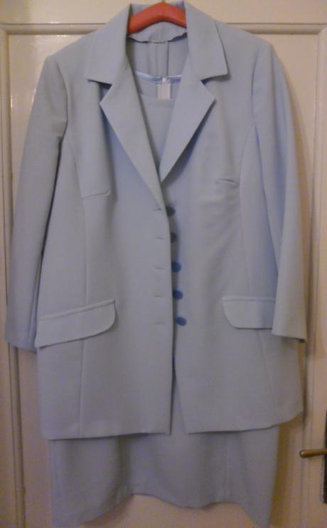 modrý šatový kostým svadobnej mamy - Obrázok č. 1