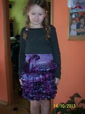 suknička z vlny na šále