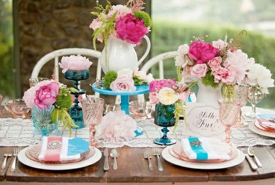 Aqua and coral palette - wedding - Obrázek č. 23