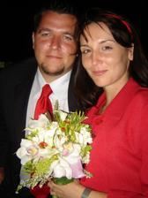 Na svatbě Robinovi sestry ve Španělsku (7.9.2007) to nám to sluší:-)