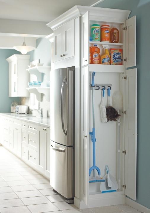Vychytávky do kuchyne a interiéru - ukážka ako sa dá vyriešiť ukladanie vecí na upratovanie v kuchyni