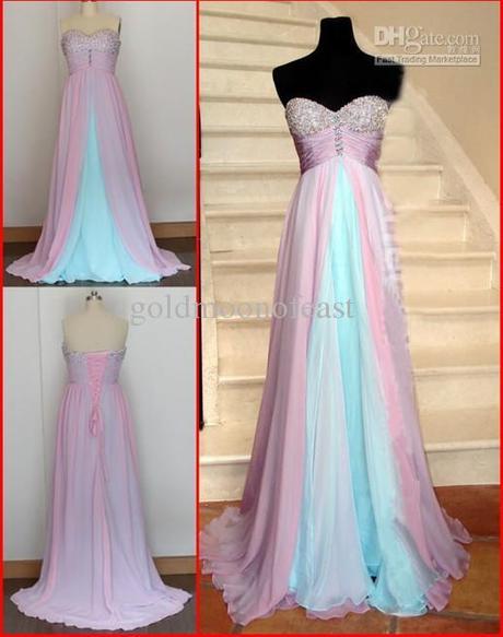 Ružovo-modré šaty  - Obrázok č. 4