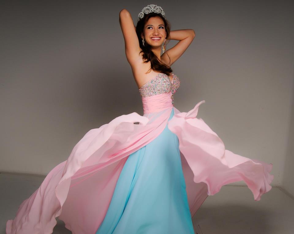 Ružovo-modré šaty  - Obrázok č. 3
