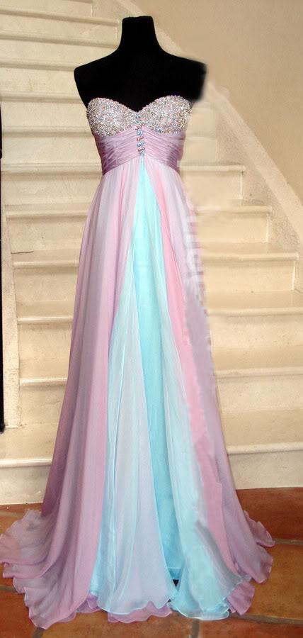 Ružovo-modré šaty  - Obrázok č. 1