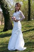 smotanovo biele šaty velkosť 36-42, 40