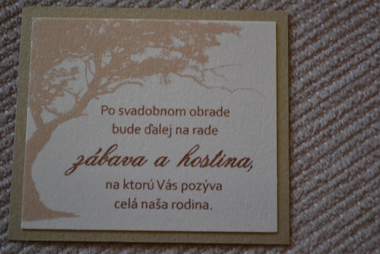 Pozvanie k svadobnému stolu - Obrázok č. 2