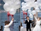 Biele balóny 10 ks ,