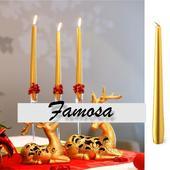 Zlaté sviečky - 10 ks v balení ,