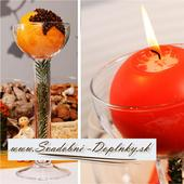 Svietnik/váza na guľové sviečky,