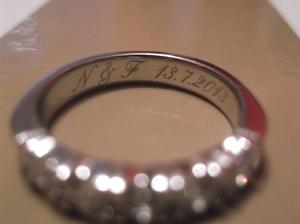 Rytina na mém prstýnku