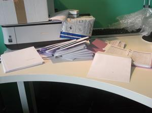 Nadepsat obálky, měla jsem strach, abych někde neudělala chybu, protože jsem měla obálky na počet, ani mě nenapadlo vzít si raději nějaké navíc... :)