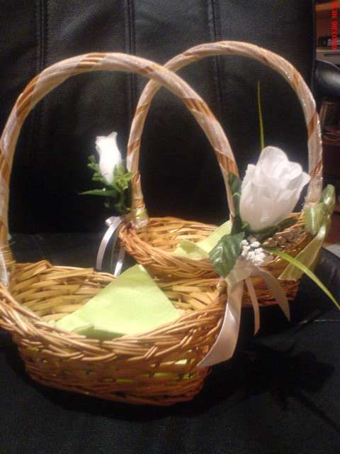 Zelenkavé inšpirácie na den - košíčky pre družičky