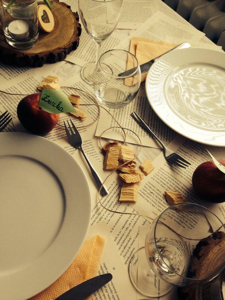 Prípravy - užívanie plnými dúškami! - stolovanie som si natrénovala už doma :)