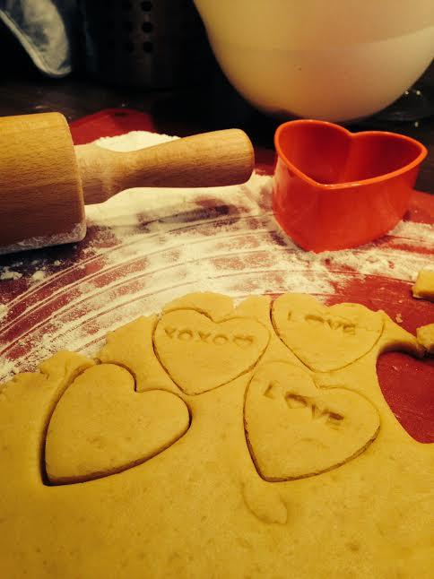 Prípravy - užívanie plnými dúškami! - keksíky pre hostí do sadu.... tiež nevyužité :(