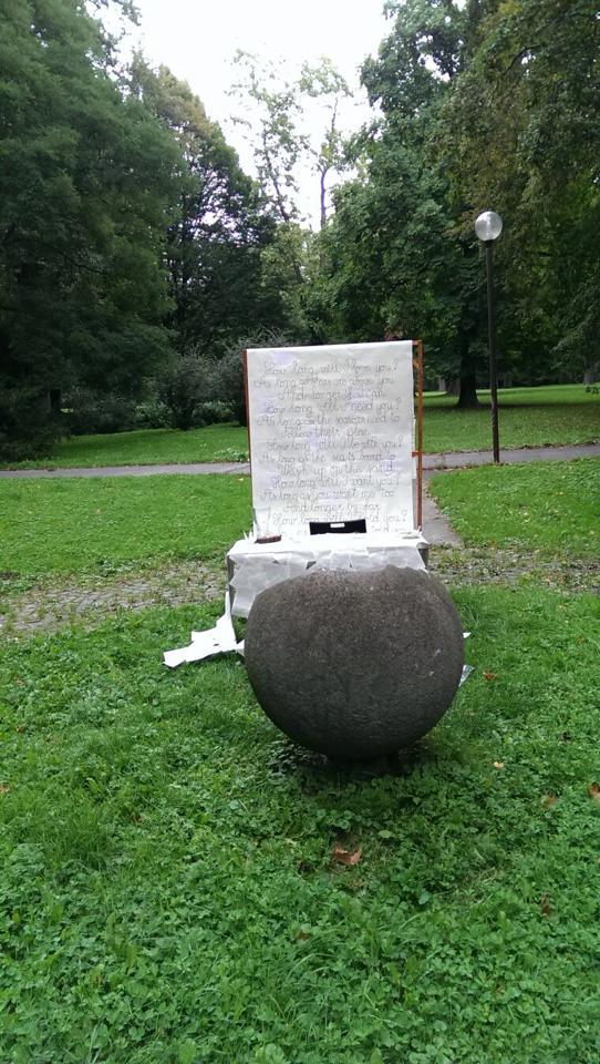 Nikol{{_AND_}}Ľudko - Pripravené miesto na obrad pred tým ako ho zničil lejak :(