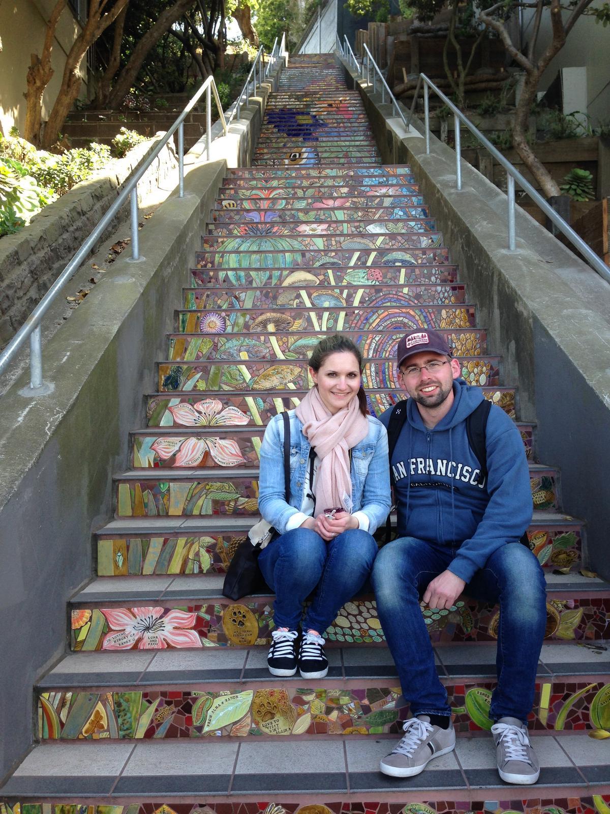 """""""If you can dream it, you can do it."""" - maľovaných schodov majú v San Franciscu niekoľko, my sme videli aspoň tieto jedny :)"""