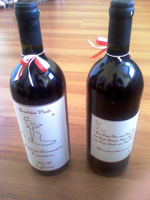 Toto už máme hotové - Svadobné vínko1