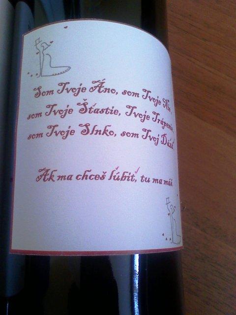 Toto už máme hotové - Svadobné vínko4