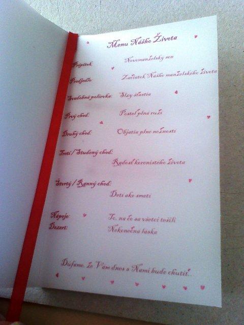 Toto už máme hotové - Svadobné menu6