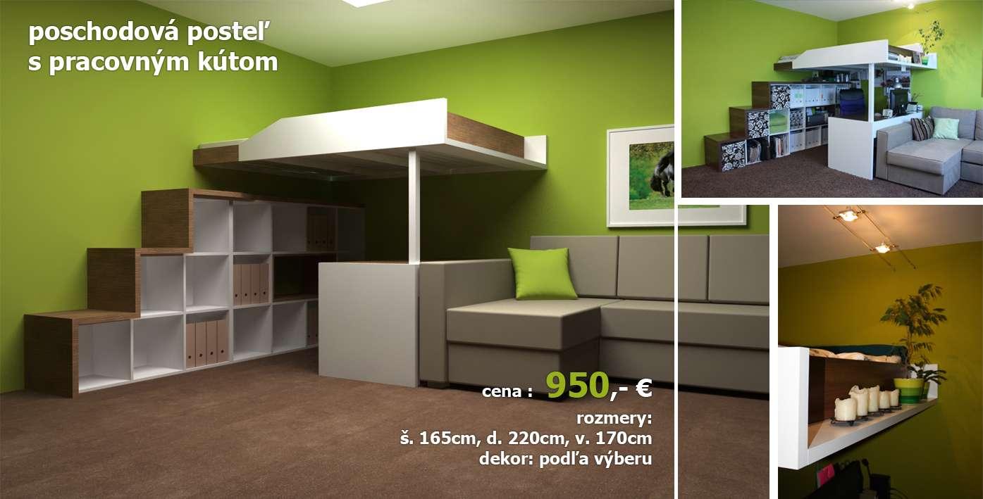 Manželská poschodová posteľ do bytu alebo domu - Obrázok č. 1