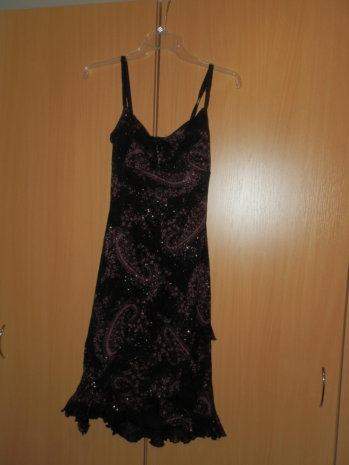 H&M fialkovočierne elegantné šaty S/M - Obrázok č. 1