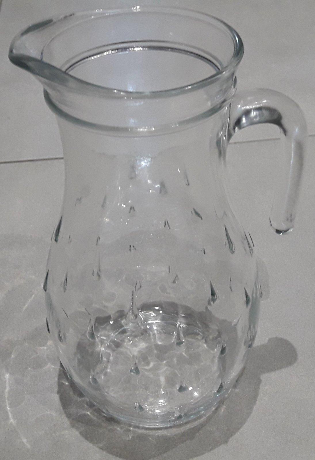 Sklenený ďžbán a poháre na víno alebo vodu - Obrázok č. 2