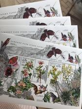 Už by som s tým nakupovaním známokmala prestať,ale tieto ma dostali, v tejto sérii aj falošné známky, ktoré len pekne ozdobia obálku.