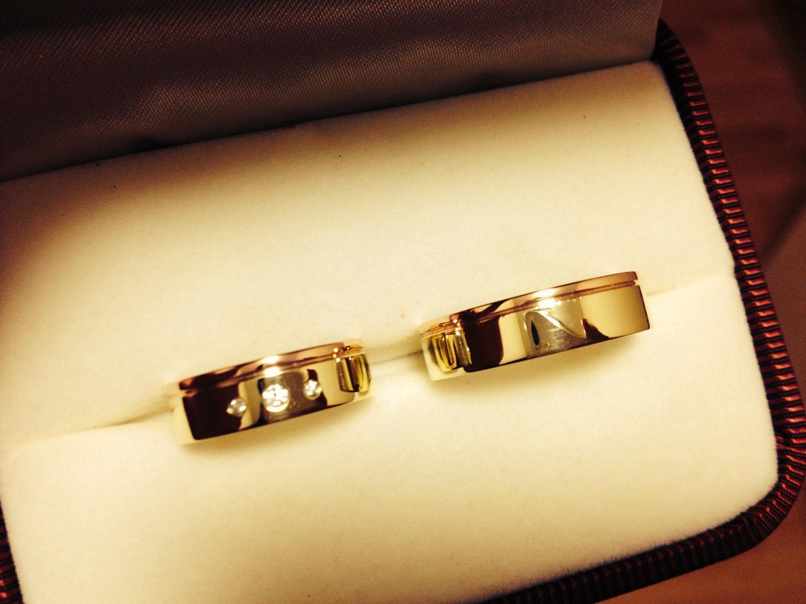 Snubni Prsteny Kombinace Zluteho A Cerveneho Zlat