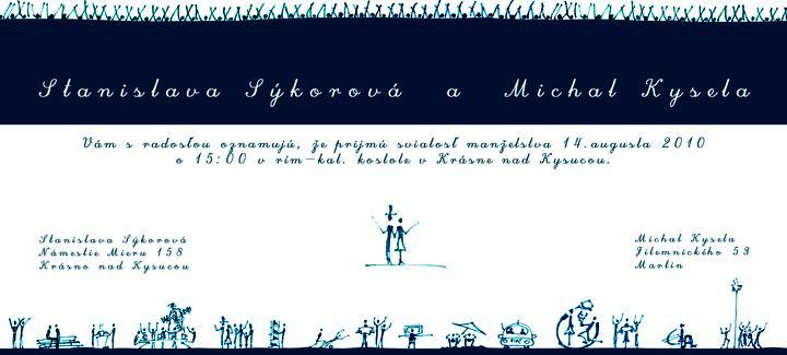 Stanka{{_AND_}}Michal - Oznámenie, práca môjho manžela.
