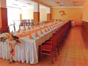 tu budeme mať hostinu