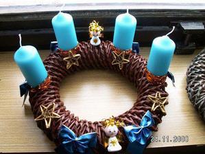 hotus pokus věnečku - všechno až na mašličky a svíčky ruční výroba, no myslela jsem že to dopadne hůř