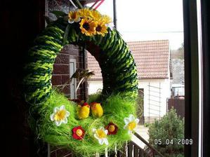nový velikonoční výtvor na dveře