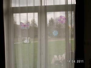 velikonoce na oknech