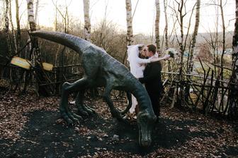 Svatební focení v Dinoparku