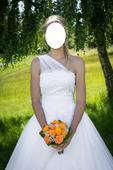 Svatební šaty na ramínko 38, 38