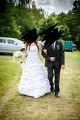 Svatebni šaty s krasnou vleckou 38-44, 44
