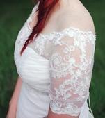 Luxusní svatební bolerko vel. 40-44,