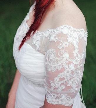 Luxusní svatební bolerko vel. 40-44 - Obrázek č. 1