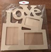 Rámeček Love na 3 fotky,