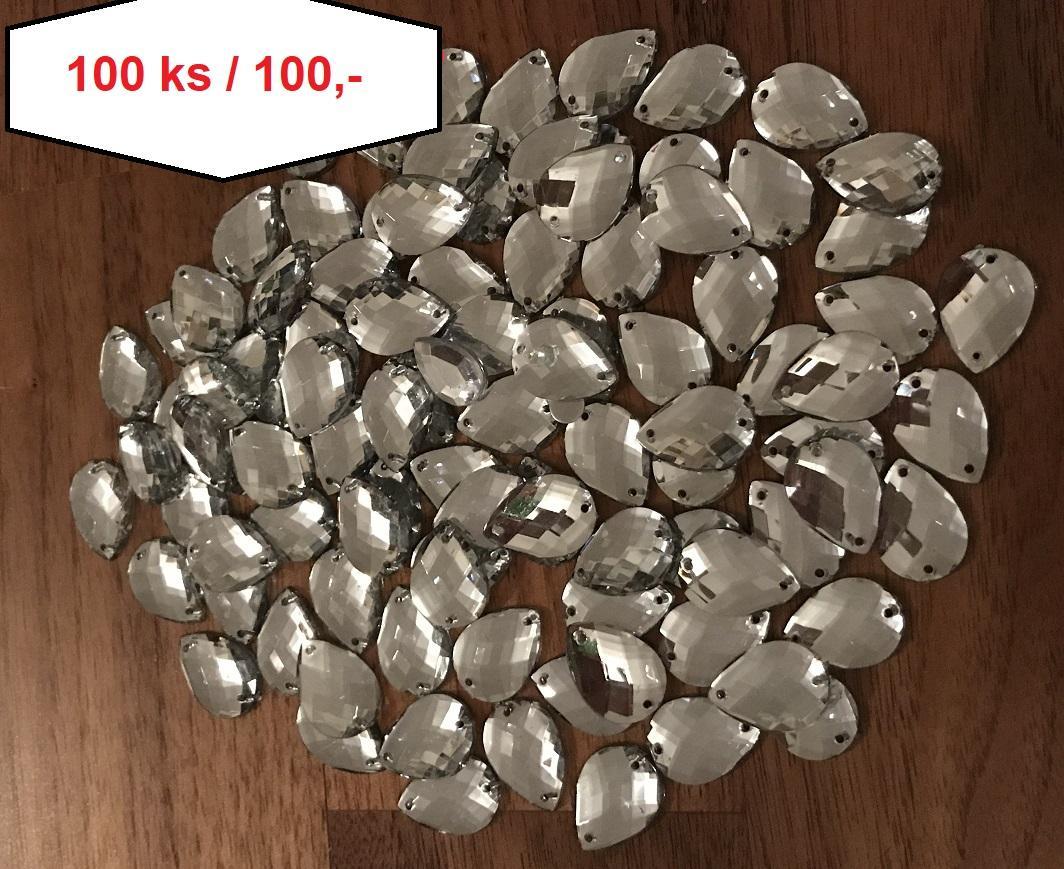 Diamantové kapky našívací 100 ks - Obrázek č. 1